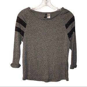 3/$21 Divided 3 Quarter Length Sleeve Shirt